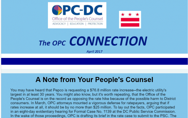 The OPC  CONNECTION - April 2017