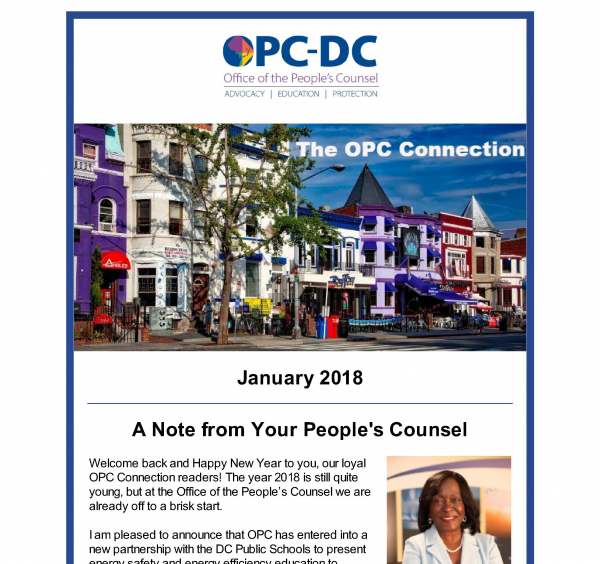 The OPC CONNECTION - January 2018