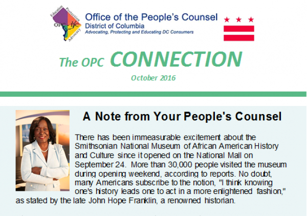 The OPC CONNECTION - October, 2016