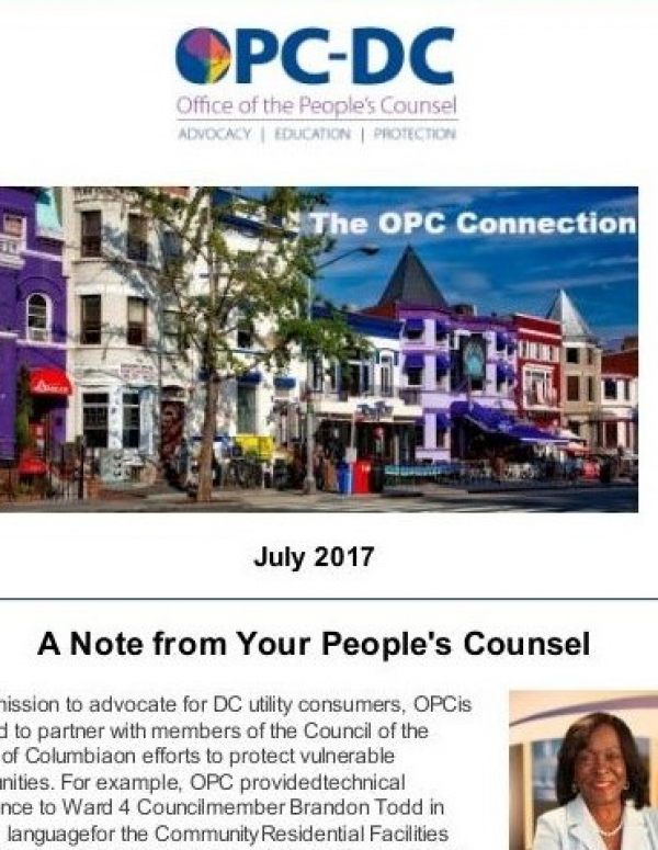 The OPC  CONNECTION - July 2017