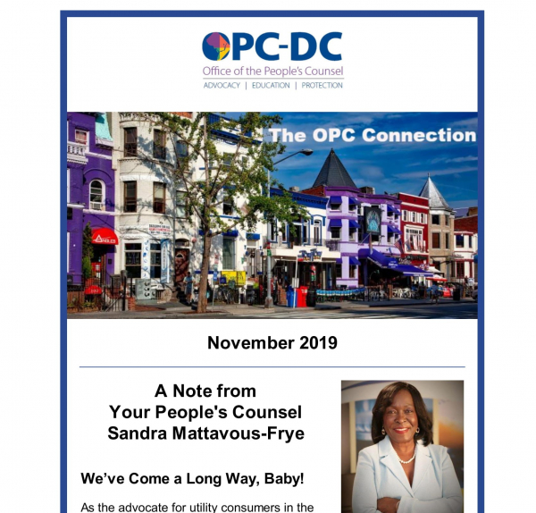 The OPC CONNECTION - November 2019